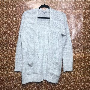 Charlotte Russe grey knitted cardigan